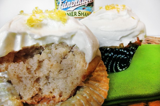 summer shandy cupcake
