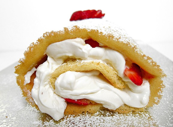 Strawberry  Cheesecake Jelly roll Cake