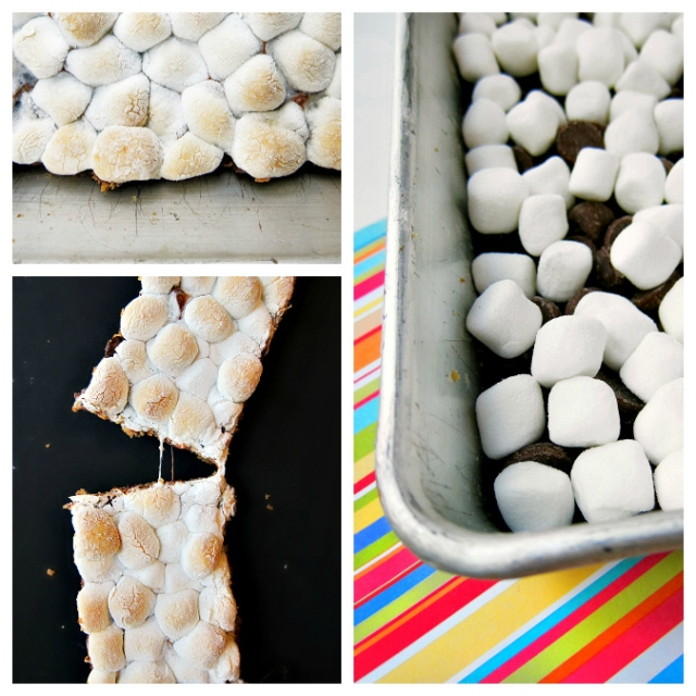 s'more collage