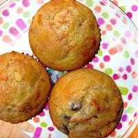 Creme Fraiche Raisin Carrot Muffins