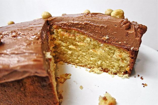Hazelnut Sponge Cake with Nutella Swiss Buttercream