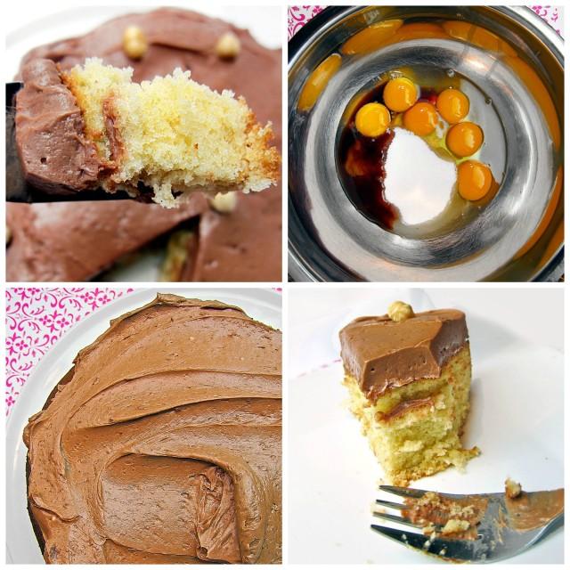 Milk Chocolate Swiss Buttercream with a Hazelnut Sponge Cake- Rich, Tender and Sinful!