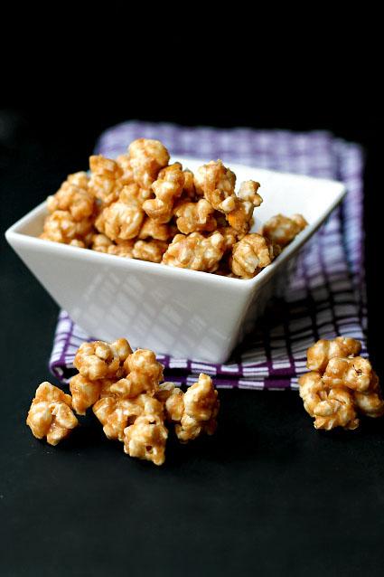 Homemade peanut butter popcorn healthy snack