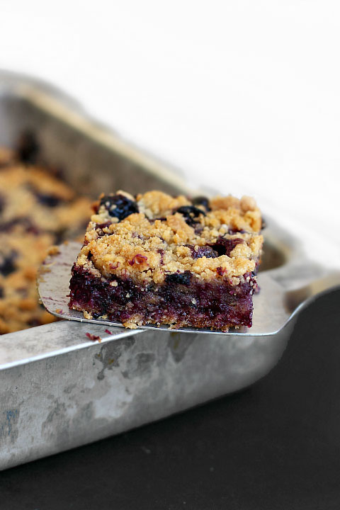 Hungrygems Blueberry Breakfast Bars with Oatmeal