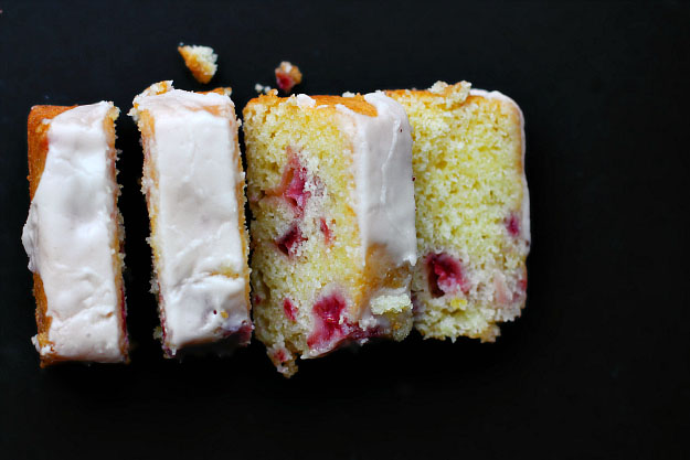 Raspberry Strawberry Mini Moist Cakes with Thick White Icing