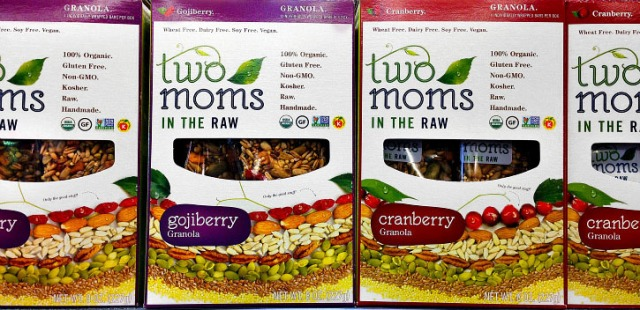 Two Moms in the Raw Granola Bar  new packaging