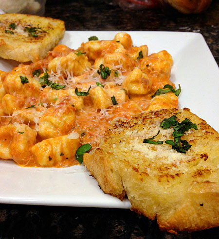 gnocchi and vodka cream sauce