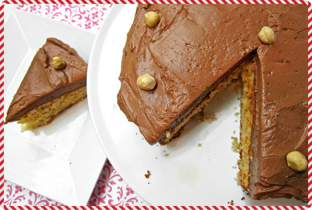 Hazelnut Sponge Cake for Christmas Cake