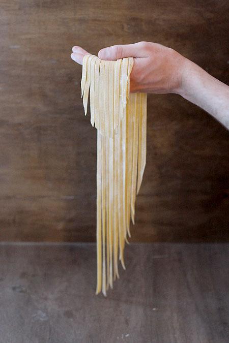 homemade fettucini from scratch