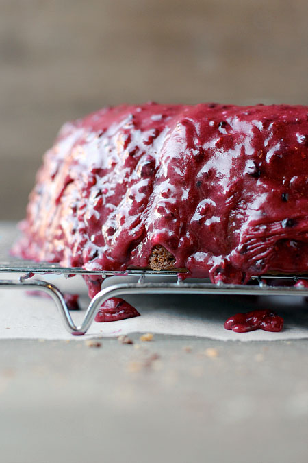 Triple Berry Frosting Cake
